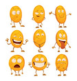 set coins with emotions icon for game apps vector image