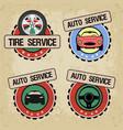 set logos for car service vector image vector image