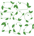 set of ecological leaf shapes on white background vector image vector image