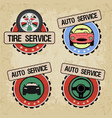 set of logos for car service vector image vector image