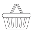 Shopping basket icon modern line sketch doodle vector image vector image