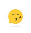 sleeping emoji speech bubble logo vector image