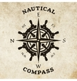 Steering wheel and compass symbol logo vector image