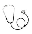 stethoscope stainless steel realistic tool for vector image