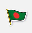 sticker flag bangladesh