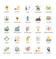 success and opportunities flat icons pack vector image