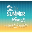 Summer time design Vacation icon Beach concept vector image vector image