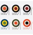 sushi flat design set vector image vector image