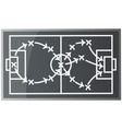 top view soccer field or football field vector image vector image