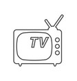 tv icon in line style isolated on white vector image vector image