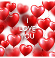 valentines day background with red heart balloons vector image vector image