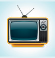 vector retro tv xxl icon vector image