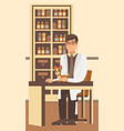 veterinarian appointment flat vector image vector image