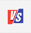 vs versus blue and red comic design vector image vector image