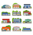 warehouse storehouse depot storage facilities vector image