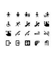 wayfinding glyph icons vector image vector image