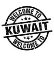 welcome to kuwait black stamp vector image vector image