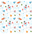 winter holidays flat seamless pattern vector image vector image