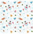 winter holidays flat seamless pattern vector image
