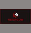 yk hexagon logo design inspiration vector image vector image