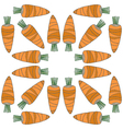 seamless vegetables pattern of carrots vector image