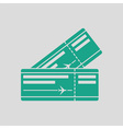 Two airplane tickets icon vector image