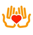 love logo design template charity or vector image