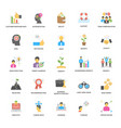 success and opportunities flat icons collec vector image