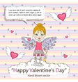 St Valentines Day card vector image