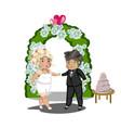 wedding celebration getting married vector image