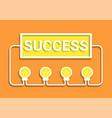 idea success concept vector image