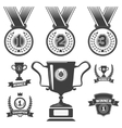 Set of medal icons trophy first place icons vector image
