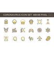 20200125 coronavirus icon yellow vector image vector image
