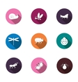 A set of colorful icons isolated insects for your vector image