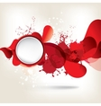 abstract background with colored elements vector image vector image