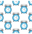 Alarm clock flat colored icon Seamless pattern vector image