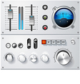analog controls interface elements set vector image vector image
