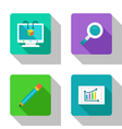 Analysis and research flat Icons vector image vector image