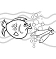 big fish cartoon for coloring book vector image vector image