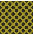 Black tile polka dots on green background vector image vector image
