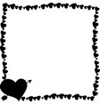 black vintage border made of hearts with arrow vector image vector image