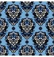 Blue Damask seamless pattern vector image vector image