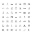 buildings design linear icons signs symbols vector image vector image