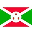 burundian flag vector image vector image