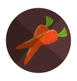 carrot fresh farm product vector image vector image