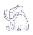 Cartoon funny Mammoth vector image