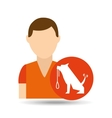 character pet training dog carrying strap vector image
