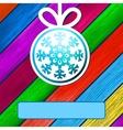 Christmas ball made of snowflakes EPS8 vector image vector image