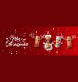 christmas web banner wine cork vector image vector image