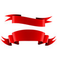 collection of red empty ribbon banners vector image vector image